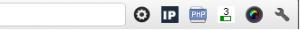 Affichage du PageRank de ma page grâce à l'extension 'Pagerank' du navigateur Chrome