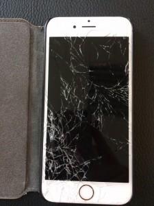 Ecran d'iphone 6 cassé